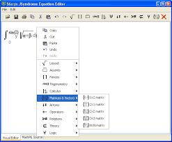 sferyx jsyndrome equation mathml editor typing subscript and superscript