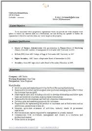 Resume Format In Html Letter Resume Directory