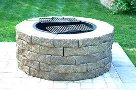 in ground cinder block fire pit round concrete blocks outdoor fire pit homemade above ground barrier