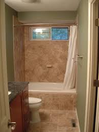 Ideas Wondrous Small Bathroom Ideas Tile Using Tumbled Travertine - Small bathroom with tub