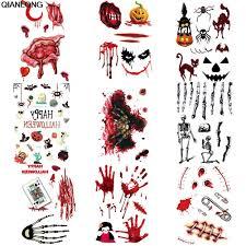 1 лист 3d татуировки наклейки хэллоуин шрам дизайн небольшой шаблон