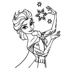 frozen christmas coloring pictures. Perfect Frozen Coloring Pages Of Elsa During Christmas With Snowflakes On Frozen Pictures I