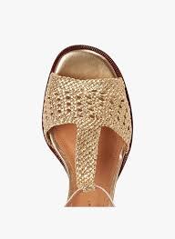 anonymous copenhagen high braided leather sandals golden