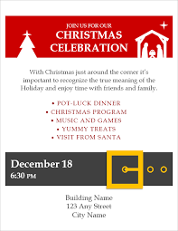 Flyer Templates Microsoft Word Christmas Flyer Template For Word