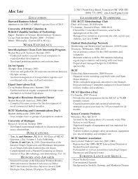 Resume Business School Resume For Study