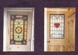stained glass door panels left custom made stained glass leaded door panel right completely rebuilt original stained glass door panels