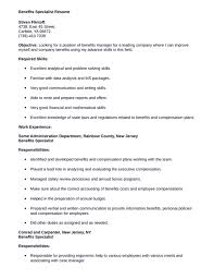 benefits specialist resume samples plus write a responsibilities and  objectives 10 benefits specialist resume sample resume