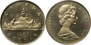 Half Dollar Worth Chart Coins And Canada 1 Dollar 1968 Canadian Coins Price