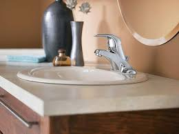 Install Bathroom Sink Impressive Installing a New Bathroom Faucet in a New Vanity Top