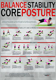 Indo Board Exercise Chart Core Stability Balance Posture Training Chart All