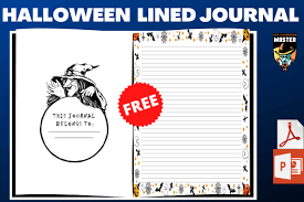 On our site you can download halloween font free. Halloween Lined Journal Free Interior Graphic By Kdp Interiors Master Creative Fabrica