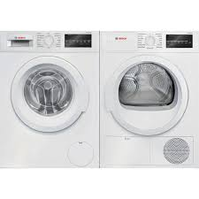 bosch compact washer. Simple Bosch Bosch Compact Laundry Pair In White WAT28400UCWTG86400UC Inside Washer