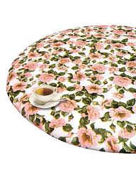 round elasticized tablecloth