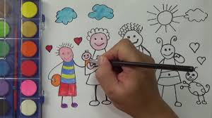 how to draw for kids my family coloring pages painting and drawing my family pa channel