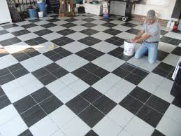 Black And White Tiles Black And White Garage Floor Tiles Wood Floors