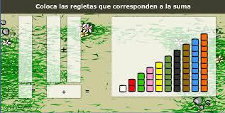 Resultado de imagen para descomposicion de numeros con regletas interactivas