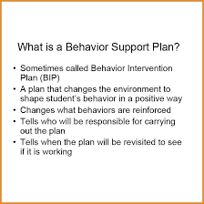 behavior support plan template. Positive Behavior Support Plan Large Example Image Of The Card