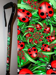 Decorated Walking Canes Walking Canes with Fractal Artwork by BFunkyMobility 55