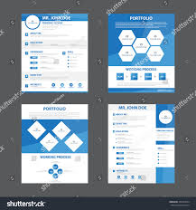 4 Smart Creative Resume Business Profile Stock Vector 359237684