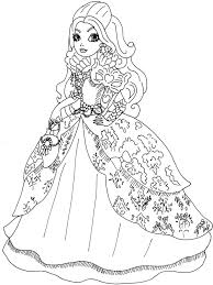 Small Picture Ever After High Coloring Pages Cecilymae