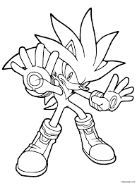 full sonic silver and shadow coloring pages the hedgehog
