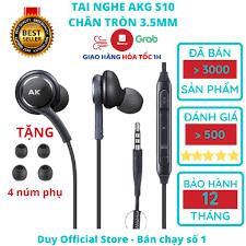 Tai nghe Samsung AKG S10 chính hãng S10 Plus S8, S9, Note 8, Note 9, S10+,  Note 10 nguyên seal kèm 4 núm phụ tốt giá rẻ