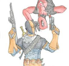 Small Picture Deadpool und Deathstroke color by Amrock on DeviantArt