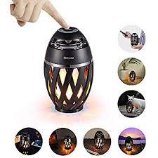 Soxono Solar Lights Speaker(2pack) Flame Lamp ... - Amazon.com
