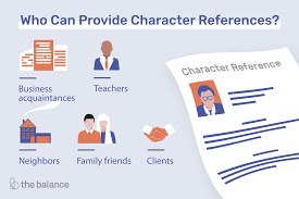 Whats A Personal Reference What Is A Character Reference And Who Should You Ask