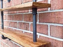 diy pallet iron pipe. DIY Pallet And Iron Pipe Wall Hanging Shelf Diy Pallet Iron Pipe
