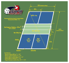 pickleball court size court diagram usapa pickleball