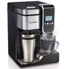 Coffee Maker Carafe And Single Cup Hamilton Beach Flexbrewr Programmable Single Serve Coffee Maker