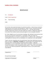 49 Professional Warning Letters Free Templates Template Lab