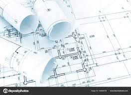 architectural drawings.  Architectural Architectural Drawings And Blueprint Rolls Architects Work Table U2014 Photo  By MrTwister To Drawings