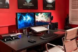 Endearing Computer Desk Setup Ideas Interesting Gaming Desk Setup Ideas  Awesome Home Design