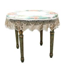 side tables side table cloth vintage xvi style with glass top and bedside