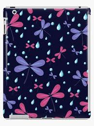Seamless Pattern Dragonflies On A Dark Background Illustration Cute Background Color Doodle Background Hand Draw Ipad Case Skin By Ann Julia