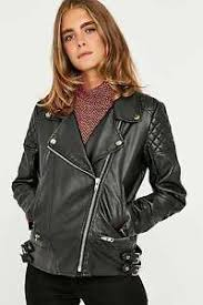 POLAR WHITES WOMENS LADIES BLACK FAUX LEATHER QUILTED BIKER JACKET ... & Image is loading POLAR-WHITES-WOMENS-LADIES-BLACK-FAUX-LEATHER-QUILTED- Adamdwight.com