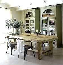 white rustic dining table grey chunky wood round distressed set tables gr
