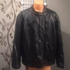 nice faux leather men s black moto jacket p1502