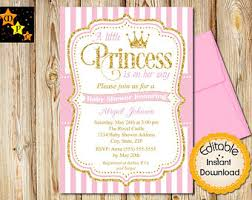 baby shower invitations for girls templates baby shower invitation etsy