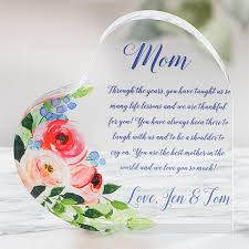 personalized acrylic heart keepsake gift for mom 20955