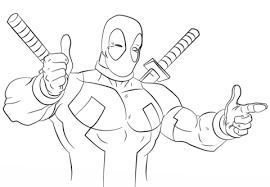 Small Picture Cartoon Deadpool coloring page Free Printable Coloring Pages
