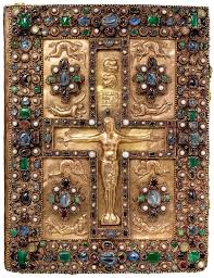 ad imaginem dei has st thomas becket s personal copy of the  jeweled front cover of the lindau gospels swiss st gall c 880 new york pierpont morgan library