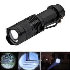 Super Mini <b>SK68</b> CREE Q5 3W <b>3</b>-<b>Mode</b> Zoom <b>LED</b> Flashlight Torch ...