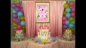 Princess Party Decoration Cute Princess Party Decoration Youtube