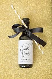 best 25 wine bottle favors ideas on pinterest custom wine Wedding Favor Message Ideas mini wine bottle label wedding favors thank you by paperandlace more Wedding Favor Messages From Lava