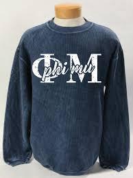 Phi Mu Corded Sweatshirt Phi Mu Letters Phi Mu Shirts