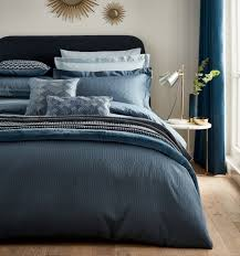 peacock blue hotel collection rivage bedding prussian blue