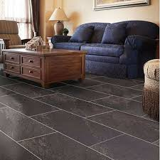 dark grey charcoal natural stone effect waterproof vinyl flooring 1 85m²